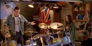 Jason Segel drum set Freaks and Geeks