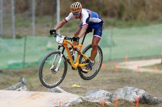 Peter Sagan in action at the 2016 Rio Olympics