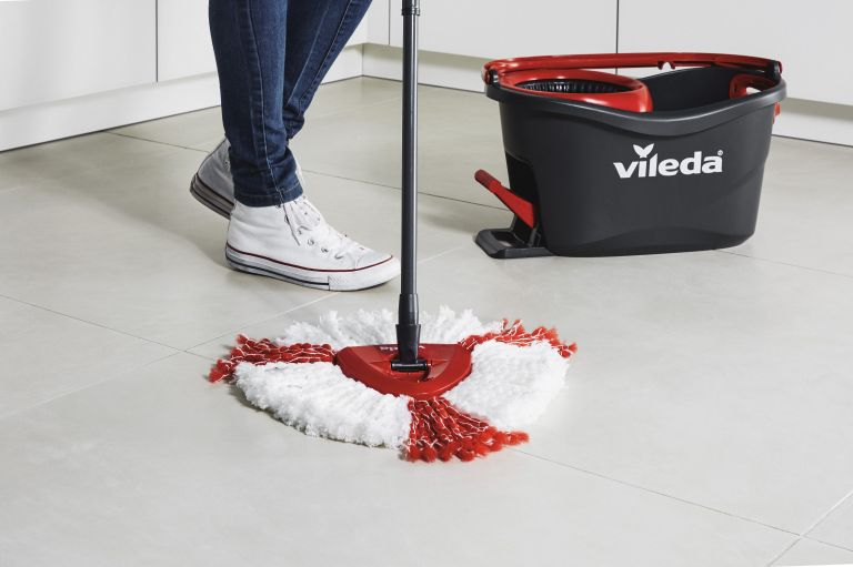 Best mop: Vileda Turbo used on hard floors