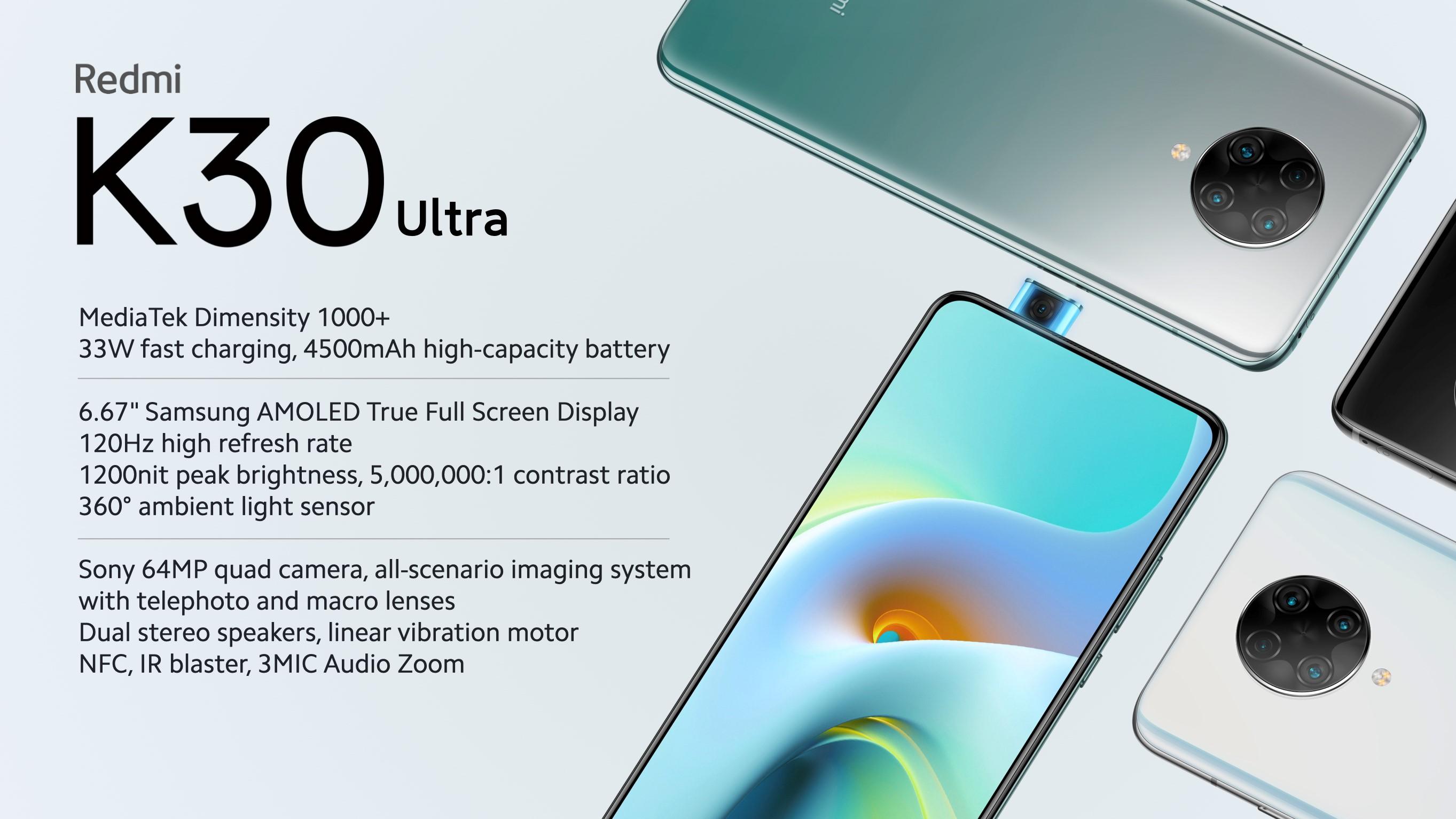 Xiaomi's affordable Redmi K30 Ultra flagship is now official