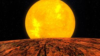 Kepler-10b view illustration