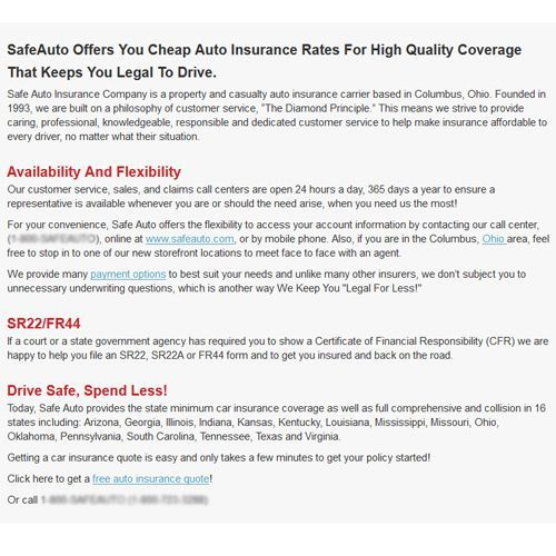 Safe Auto Customer Service >> Safeauto Review Pros Cons And Verdict Top Ten Reviews