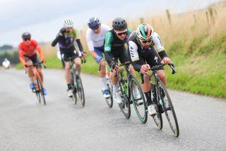Irish champion Ben Healy racing at Tour of Britain