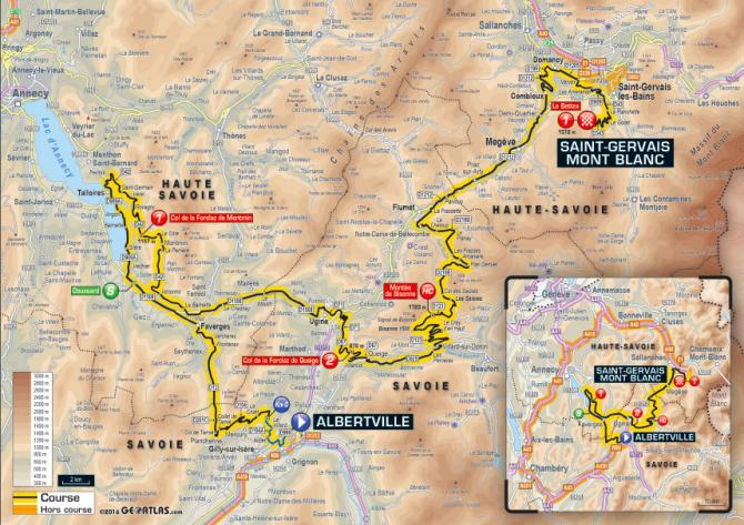 Tour De France 2016 Stage 19 Map