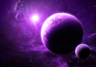 purple exoplanet