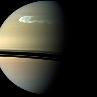 Saturn Great White Spot Storm