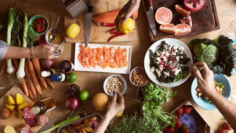 A table full of tasty Nordic diet foods