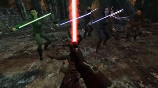 Watch this guy murder tons of Jedi in VR using Star Wars