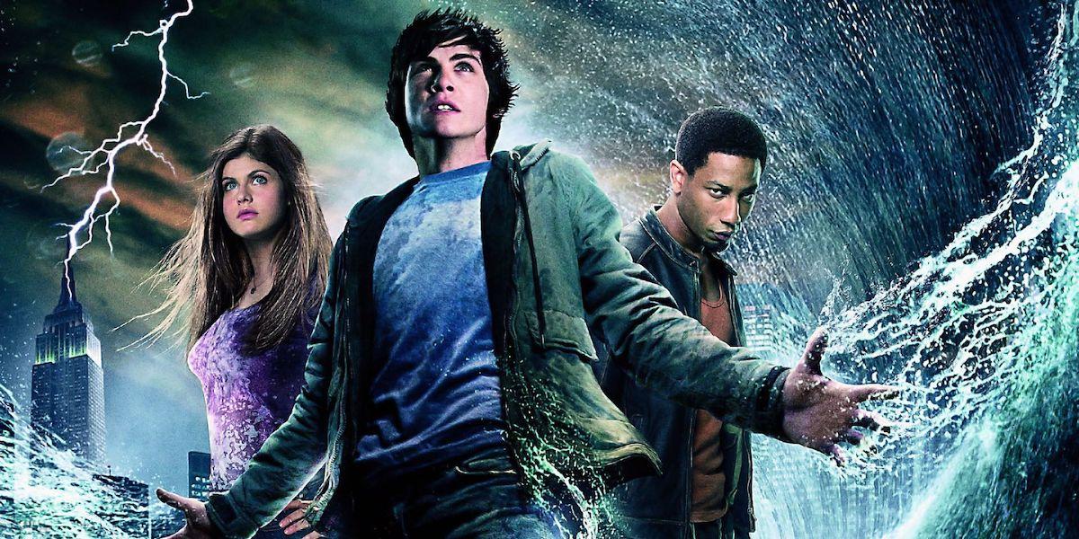 Alexandra Daddario, Logan Lerman and Brandon T. Jackson in Percy Jackson, The Lightning Thief