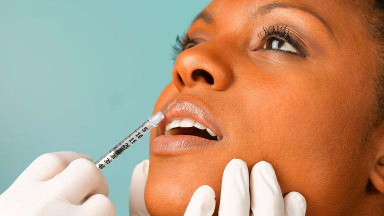 Woman having injectable tweakment