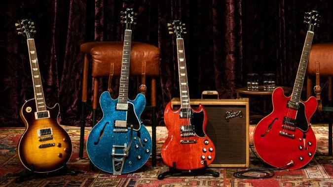 gibson unveils back to basics 2019 electric guitar range musicradar. Black Bedroom Furniture Sets. Home Design Ideas