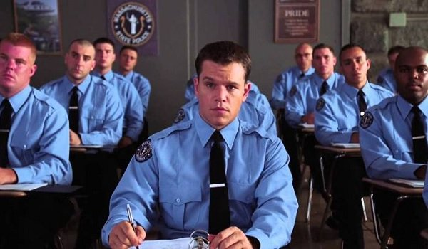 The Departed Matt Damon taking a class at the police academy