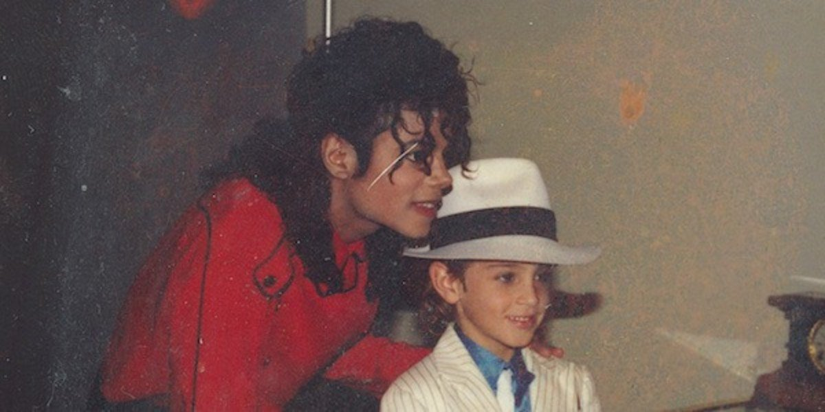 Michael Jackson and Wade Robson in a throwback photo from HBO's Leaving Neverland