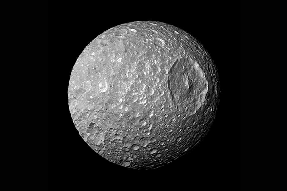 On This Day in Space! Sept. 17, 1789: Saturn's 'Death Star' Moon Discovered