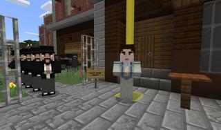 Emmeline Pankhurst in Minecraft.