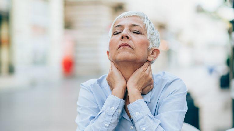 Woman undergoing menopause