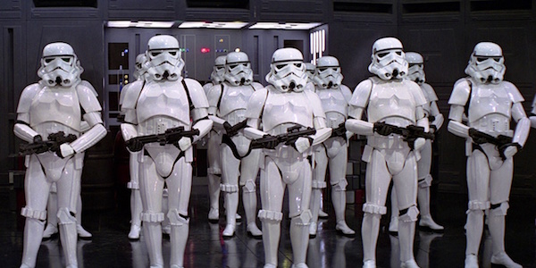 A Line of Stormtroopers