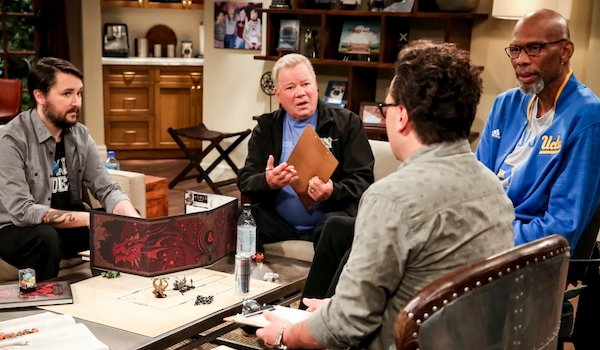 big bang theory william shatner guest star playing D&D with leonard and wil wheaton