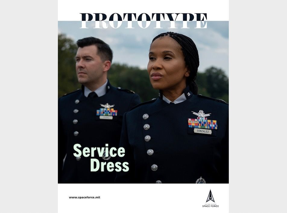 The Space Force's prototype dress uniforms look like something out of science fiction