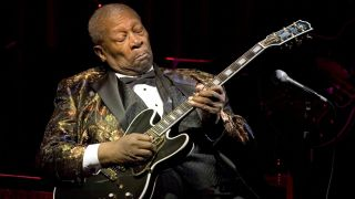 BB King performs live with his Gibson ES-345 Lucille electric guitar