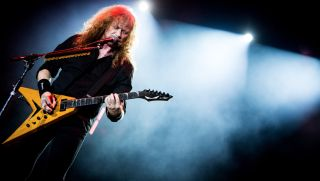 Dave Mustaine of Megadeth performing live at Carroponte, Sesto San Giovanni, Italy on 8 August 2017