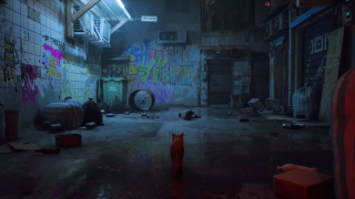 Stray gameplay footage