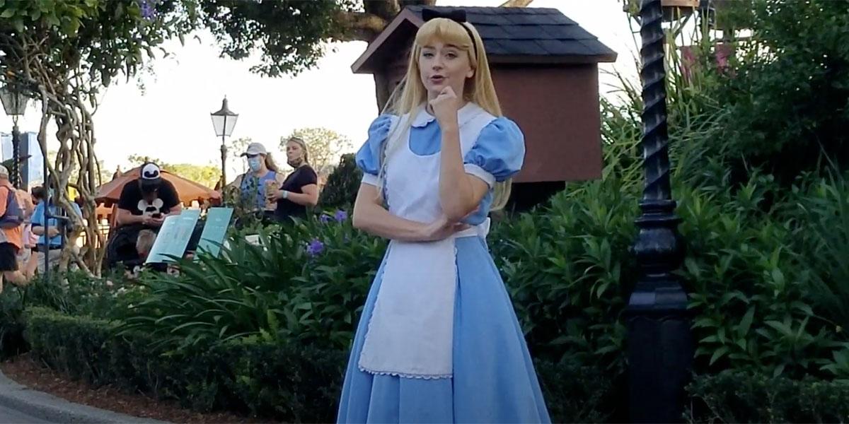 Alice in Wonderland at the Disney World theme Parks