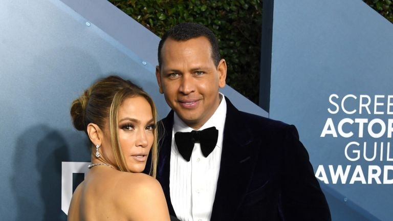 Jennifer Lopez and Alex Rodriguez arrives at the 26th Annual Screen ActorsGuild Awards