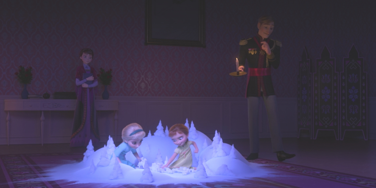 Anna and Elsa play in Frozen II