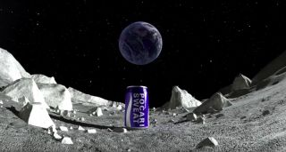 Pocari Sweat 'Time Capsule' on the Moon