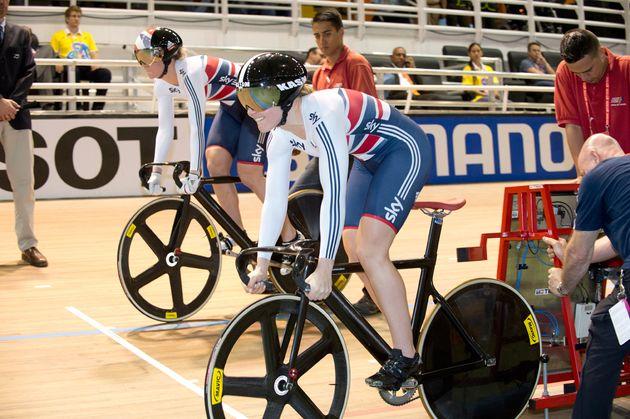 Great Britain, women's team sprint, 2014 Track World Championships