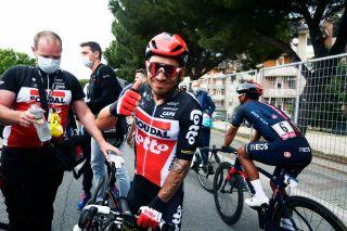 Foto Fabio Ferrari/LaPresse 14 maggio 2021 Italia Sport Ciclismo Giro d'Italia 2021 - edizione 104 - Tappa 7 - Da Notaresco a Termoli (km 181) Nella foto: Photo Fabio Ferrar/LaPresse May 14, 2021 Italy Sport Cycling Giro d'Italia 2021 - 104th edition - Stage 7 - from Notaresco to Termoli In the pic: