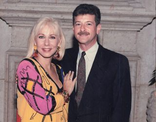 Cristina Saralegui and Rafael Eli in the 1990s