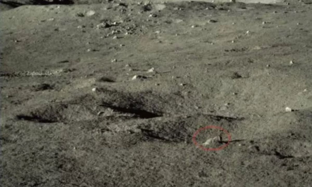 What's up with that rock? China's moon rover finds something strange on the far side.