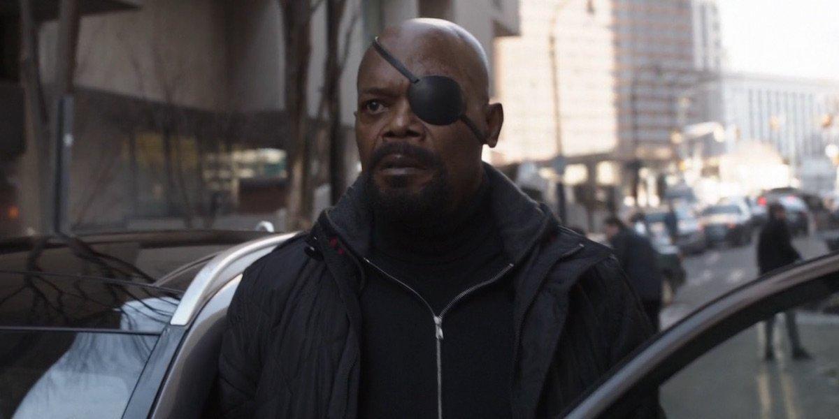 Nick Fury in Avengers: Infinity War