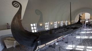 The Oseberg ship from around A.D. 800 is one of the most well preserved Viking ships from the period.