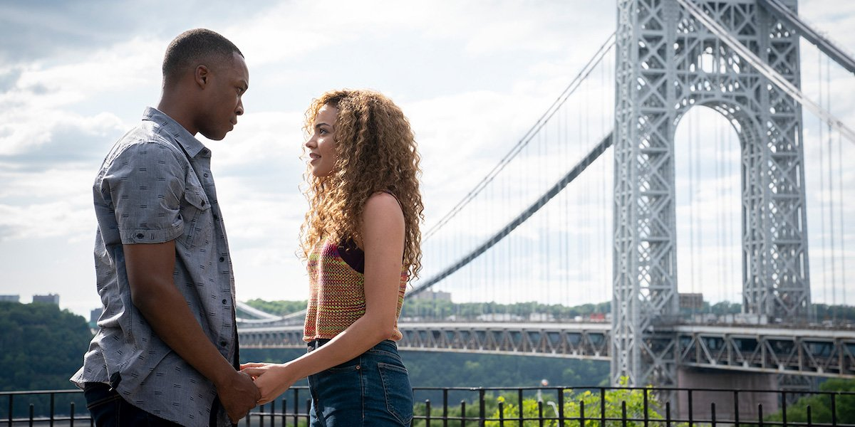 Corey Hawkins and Leslie Grace as Benny and Nina in In The Heights