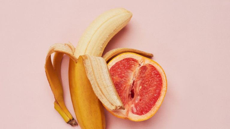banana and grapefruit depicting sex