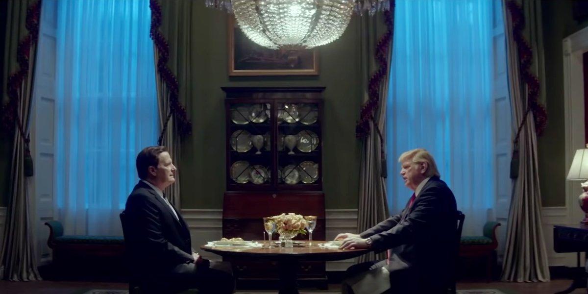Jeff Daniels and Brendan Gleeson in The Comey Rule