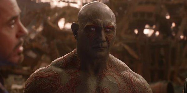 Dave Bautista Drax Avengers Infinity War
