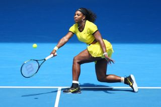 Serena Williams at the Australian Open in 2016.