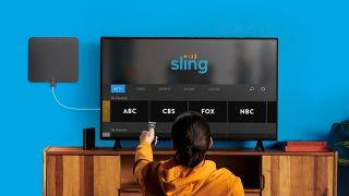 Over-the-air channels on Sling on an LG smart TV