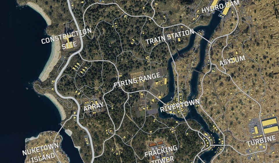 Call Of Duty Black Ops 4 Blackout Battle Royale Map Revealed Pc