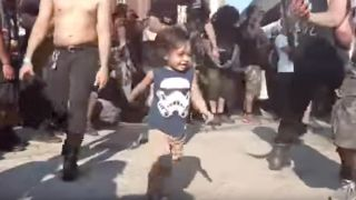 Heavy metal toddler at Maryland Deathfest