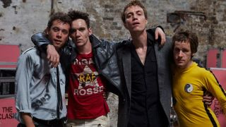 Jonathan Rhys Meyers, second left