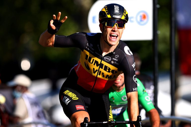 Wout van Aert winning stage 21 of the Tour de France 2021