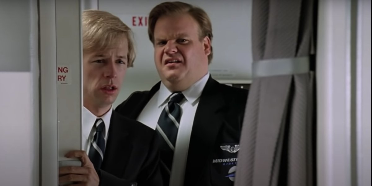 David Spade and Chris Farley in Tommy Boy