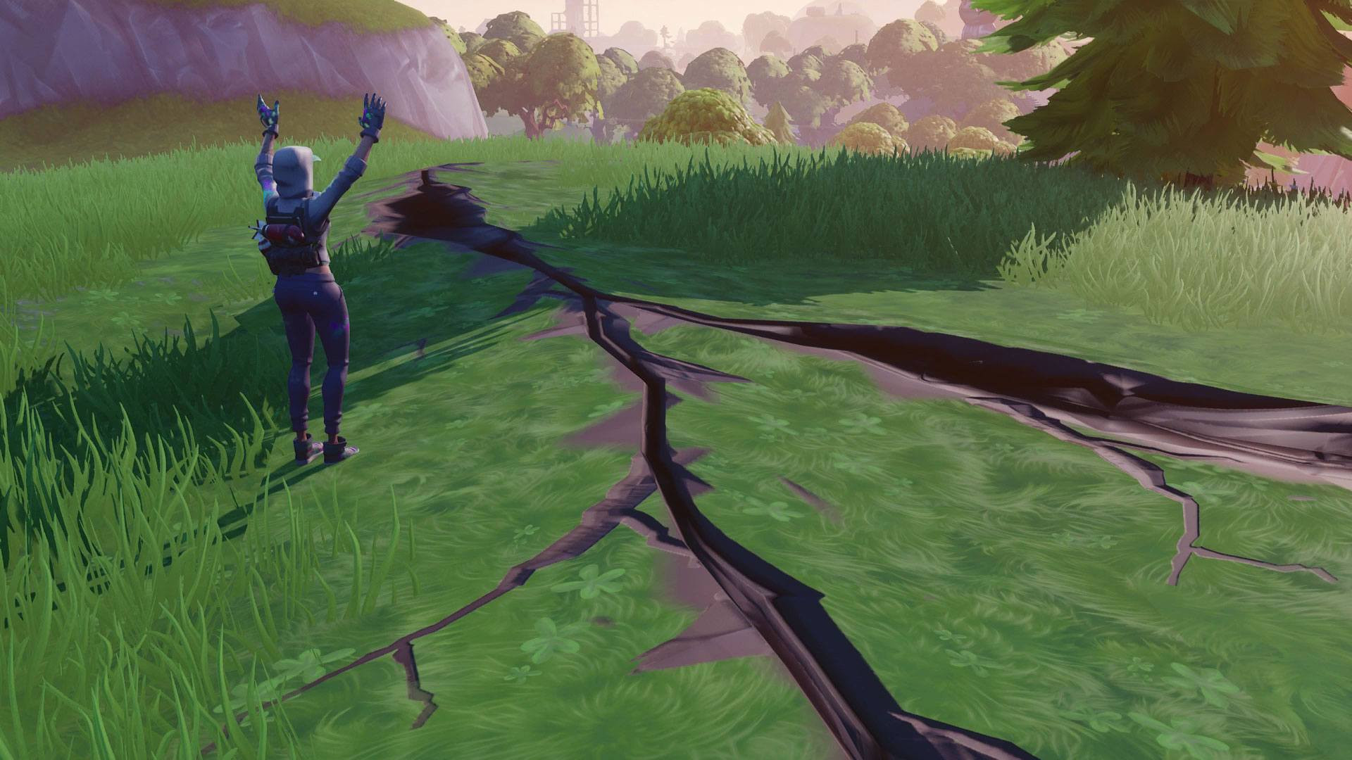 Earthquake Time In Fortnite The Fortnite Earthquake Event Has Already Started As Cracks Begin To Appear Across The Battle Royale Map Gamesradar