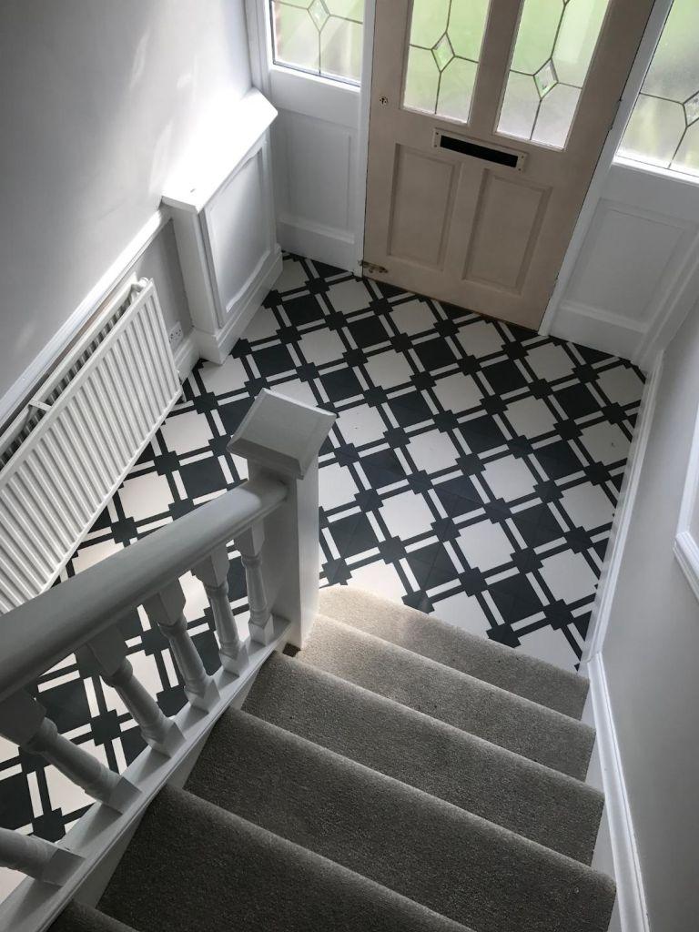 Best hallway flooring: Offcut Art Decor Flooring
