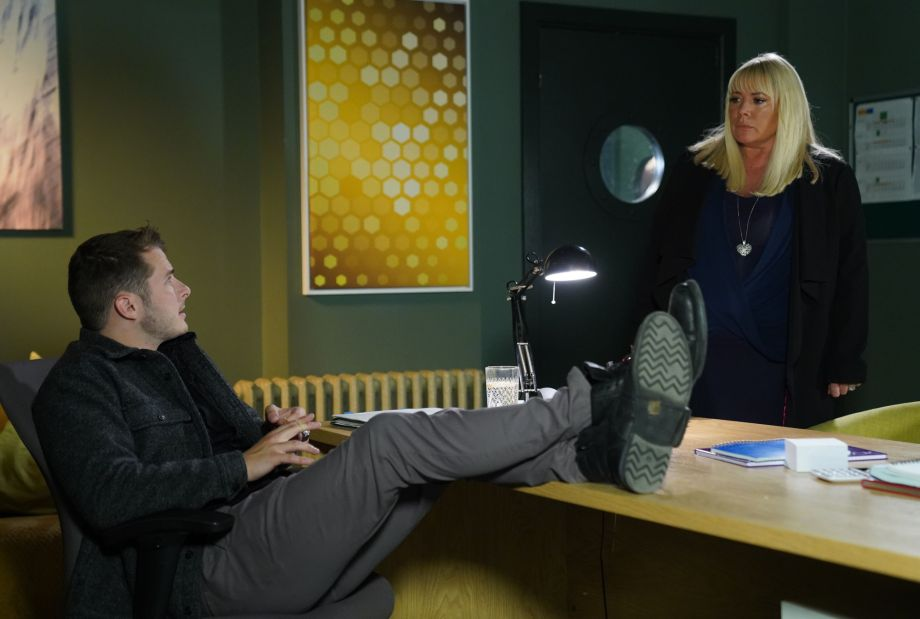 Ben Mitchell has news for Sharon Mitchell in EastEnders